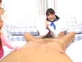 Hot teens give a nice foot and handjob