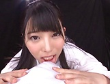 Ai Uehara and Karen Haruki blow a cock brilliantly picture 10