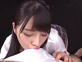 Ai Uehara and Karen Haruki blow a cock brilliantly picture 11