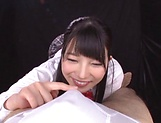Ai Uehara and Karen Haruki blow a cock brilliantly picture 13