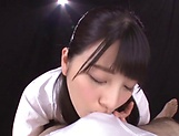 Ai Uehara and Karen Haruki blow a cock brilliantly