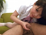 Gorgeous Asian lassie gives amazing blowjob