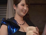 Busty Asian Osaki Mio gives incredible handjob