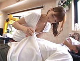 Hot massage turns into a great handjob by Kaede Fuyutsuki picture 9