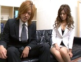 Delicious Japanese offie lady Aki Asada blows cock in a toilet on pov