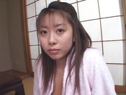 Amateur girl with nice ass and big tits Miho Anzai blows cock