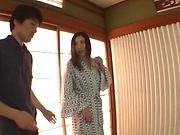 Sexy Japanese AV Model with big tits sucks cock like an angel