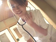 Hot Asian nurse with bubble ass Ai Himeno blows cock of her horny patient