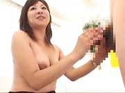 Horny MILF eats sperm during a hot threesome