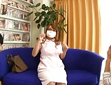 Aihara Marin loves getting screwed by two horny guys picture 11