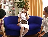 Aihara Marin loves getting screwed by two horny guys