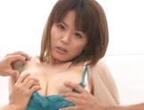 Miki Sato, busty woman, fucked by two young lads picture 15