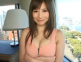 Azumi Chino, busty Asian milf in hot group action picture 12
