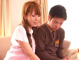 Hatano Yui, horny Asian amateur gets tit fuck in pov