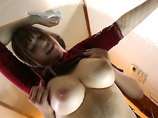 Saegusa Chitose gets her massive knockers squeezed