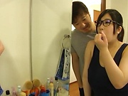 Shizuku Amai gives a long sensual tit fuck.