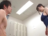 Naughty Japanese milf, Chitose Saegusa gets hot tit fuck picture 36