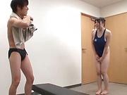 Naughty Japanese milf, Chitose Saegusa gets hot tit fuck