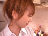 Asian beauty, Hatano Yui in pov kitchen sex play