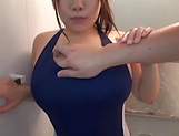 Busty Asian milf gets fucked in the shower picture 14