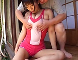 Hot busty Asian AV model penetrated hard