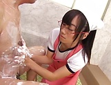 Mako Konno Asian housewife has big tits fucked in the bath