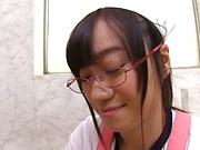 Mako Konno Asian housewife has big tits fucked in the bath