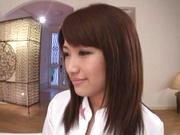 Wild nurse with big tits Junko Hayama gets licked and banged