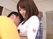 Wild nurse with big tits Junko Hayama gets licked and banged