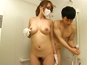 Steamy shower for busty Japanese Aihara Marin