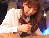 Ai Sayama Asian teen in school uniform gets hard fucking