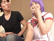 Mikoto Yatsuka hot Asian milf in cosplay sex games