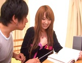 Busty Asian beauty Hatano Yui enjoys cock in various modes