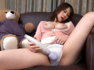 Thrilling solo action with a vibrator