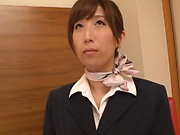 Nanahara Akari enjoys her cunt stretched