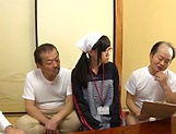 Naughty Asian babe Mako Konno is banged by older men