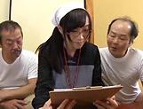 Naughty Asian babe Mako Konno is banged by older men