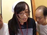 Mako Konno naughty Asian babe in a hot gangbang