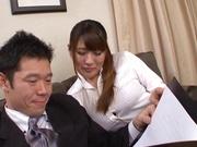 Busty darling Aya Miyoshi worthwhile slamming
