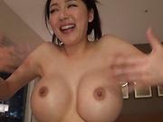 Okina Anna, hot Asian milf enjoys amateur sex play
