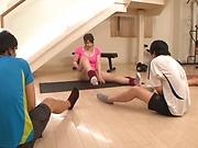 Chitose Saegusa, horny Japanese milf gets hot tit fuck