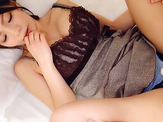 Big boobed Japanese AV model gives hot amateur blowjob