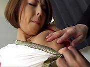 Erika Mizumoto fucked and jizzed on her superb tits