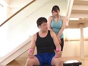 Naughty Asian milf, Chitose Saegusa gets hot rear fuck