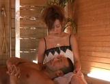 Massage turns nasty for cock sucking Hikari Kirishima