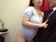 Amazing Mikoto Yatsuka has her cunt nailed