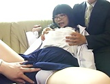 Superb dick riding for lucky hunk dude with Yatsuka Mikoto picture 12