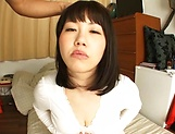 Busty Asian, Anna Kishi hard fucked and made to swallow picture 12