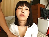 Busty Asian, Anna Kishi hard fucked and made to swallow picture 13