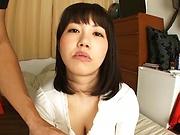 Busty Asian, Anna Kishi hard fucked and made to swallow